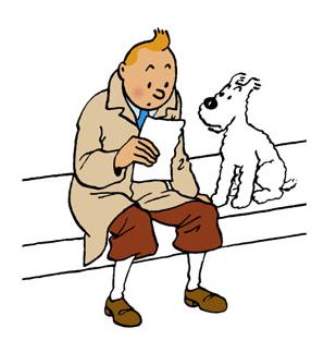 Tintin sans milou au tribunal de commerce - Image de tintin et milou ...